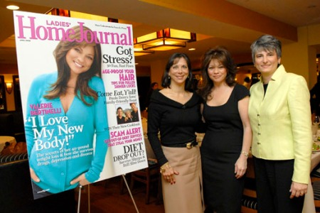 Julie Pinkwater, LHJ VP/publisher, Valerie Bertinelli, and LHJ EIC Diane Salvatore