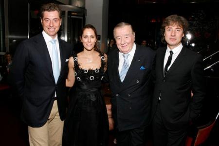 Cristina Cuomo with Mauro, Sirio, and Marco Maccioni of Le Cirque